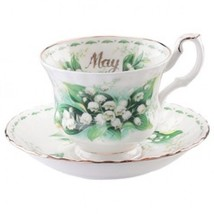 Royal Albert Flower of the Month May Teacup & Saucer MADE IN ENGLAND - $42.06