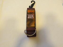 Wilson Football Web Belt W/D ring size Adult WTF444200MAR burgandy - $15.83