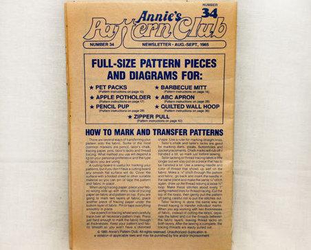 Annie's Pattern Club Newsletter 1985 No. 34