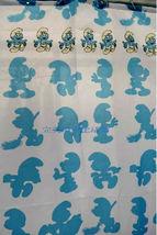 SMURF Cartoon Design 180 x 200 cm POLYESTER Bathroom Use SHOWER CURTAIN SET - $19.99