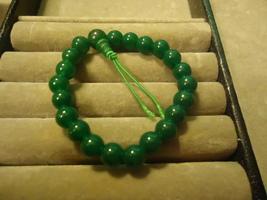 Green Glass Bead Elastic Bracelet  - $6.50