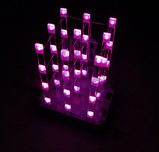 3D Squared DIY Kit 3x3x4 LED Cube White LED Blu... - $13.79
