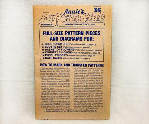 Annie's Pattern Club Newsletter 1985 No. 35