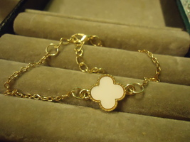 Gp White Flower Adjustable Bracelet C/S & H Available - $2.50