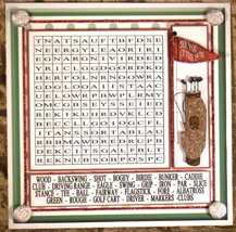 Handmade Greeting Card - Word Search Golf Themed Multi-Occasion Game/Card - $10.95