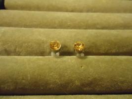 Yellow Rhinestone Studs  - $0.99
