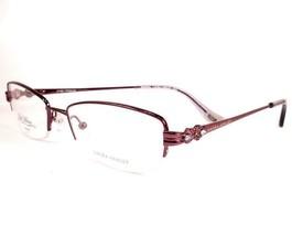 Laura Ashley Gianna Currant Titanium Eyeglasses Women  Semi Rimless 51-1... - $98.98