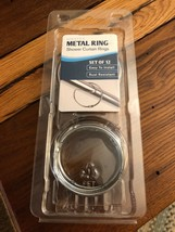 MAYTEX  METAL SHOWER CURTAIN RING SET OF 12 EASY TO INSTALL RUST RESISTANT - $8.90