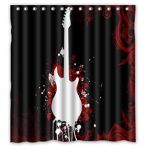 Guitar #22 Shower Curtain Waterproof Made From Polyester - $29.07+