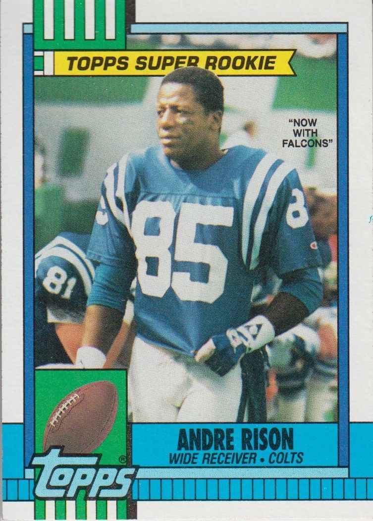 Andre Rison 1990 Topps Super Rookie Card 300 And 50 Similar