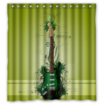 Guitar #30 Shower Curtain Waterproof Made From Polyester - $29.07+