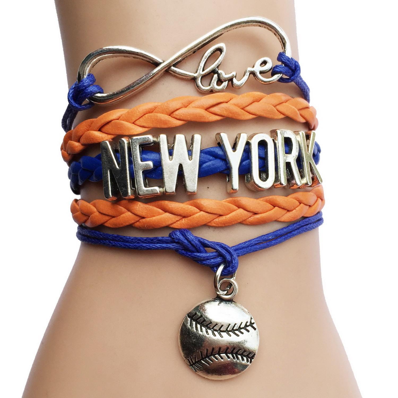 MLB Infinity Love Charm Bracelet