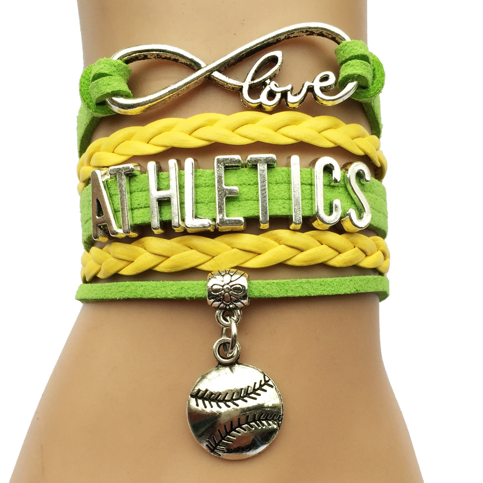 MLB Infinity Love Charm Bracelet image 9