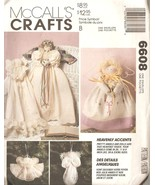 McCall's Crafts 6608 Heavenly Accents Angel Dolls/Ornaments Sewing Patte... - $3.50