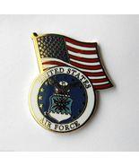 USAF US AIR FORCE LOGO USA FLAG LAPEL PIN BADGE... - $4.46