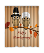 Happy Thanksgiving #02 Shower Curtain Waterproof Made From Polyester - $29.07 - $48.30