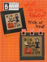 Fancy: Trick or Treat cross stitch chart Heart In Hand  - $7.20
