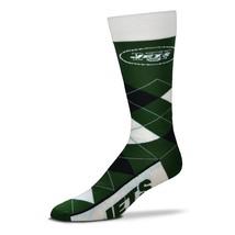 NFL New York Jets Argyle Unisex Crew Cut Socks - One Size Fits Most - $9.95