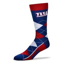 NFL New York Giants Argyle Unisex Crew Cut Socks - One Size Fits Most - $10.95