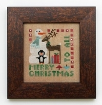 Wee One: Merry Christmas To All cross stitch chart Heart in Hand - $7.65