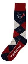 NFL Houston Texans Argyle Unisex Crew Cut Socks - One Size Fits Most - $9.95