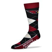 NFL Arizona Cardinals Argyle Unisex Crew Cut Socks - One Size Fits Most - $9.95