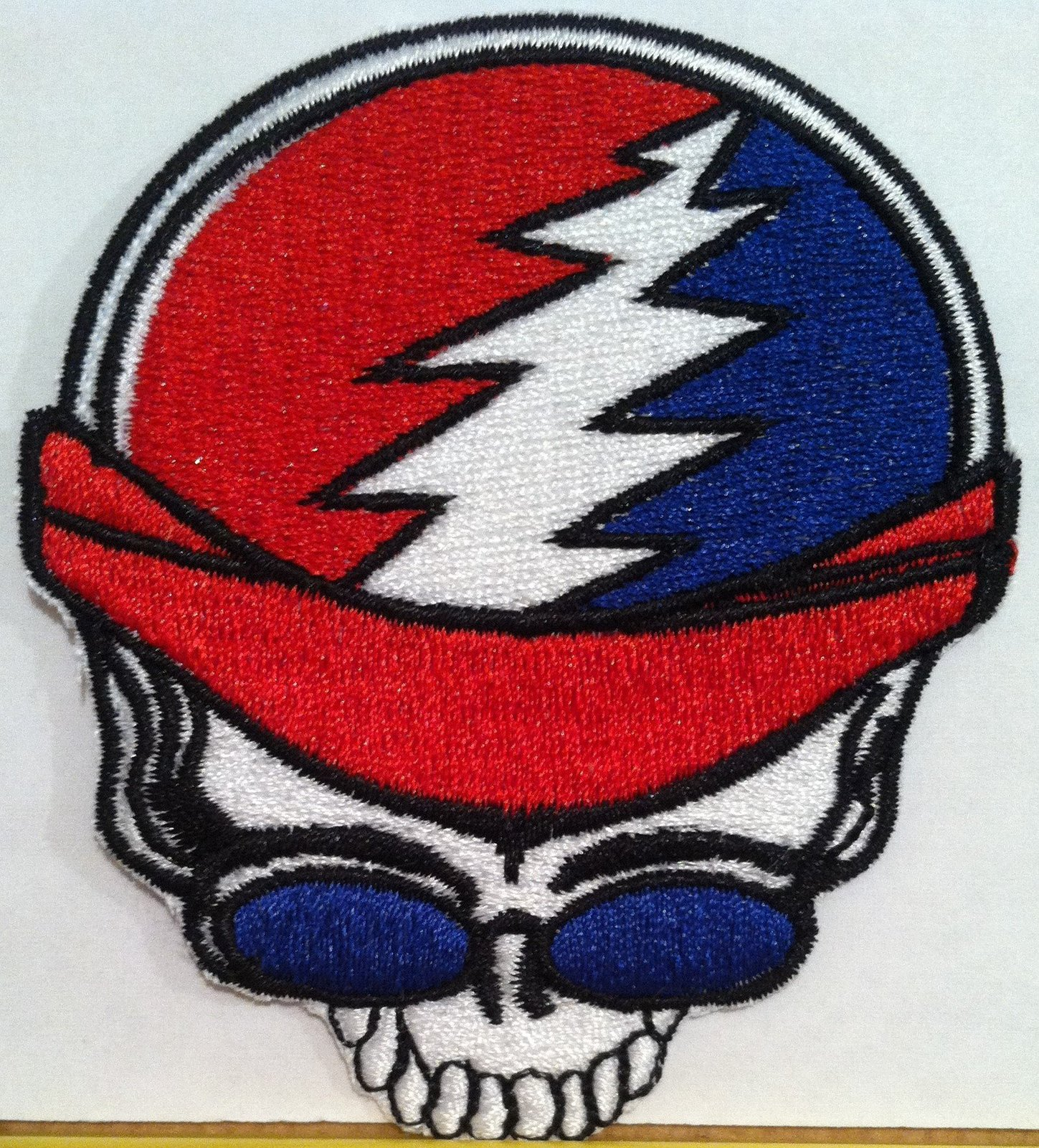 Primary image for Skull Biker Iron On Patch Embroidered USA Biker Emblem