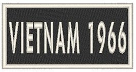 VIETNAM 1966 Iron-on Patch Biker Emblem White Merrow Border - $4.29