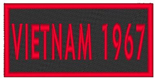 Primary image for VIETNAM 1967 Iron-on Patch Biker Emblem Red Merrow Border