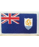 Anguilla Flag Embroidery Iron-on Patch Emblem White Border - $4.29