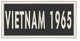 VIETNAM 1965 Iron-on Patch Biker Emblem White Merrow Border - $4.29