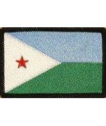 Republic of Djibouti Flag Iron-On Patch Embroidered Tactical Morale Patc... - $4.29