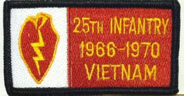 25th INFANTRY 1966-1970 VIETNAM Iron-on Patch Military Morale Emblem - $4.45
