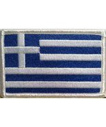 Greece Flag Embroidery Iron-on Patch Europe Emblem White Border - $3.95