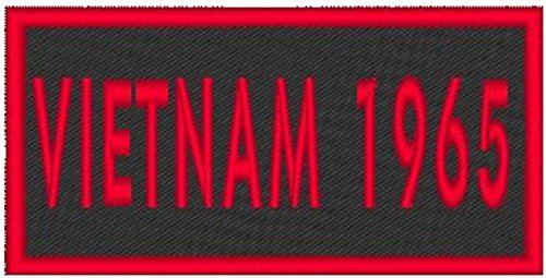 Primary image for VIETNAM 1965 Iron-on Patch Biker Emblem Red Merrow Border