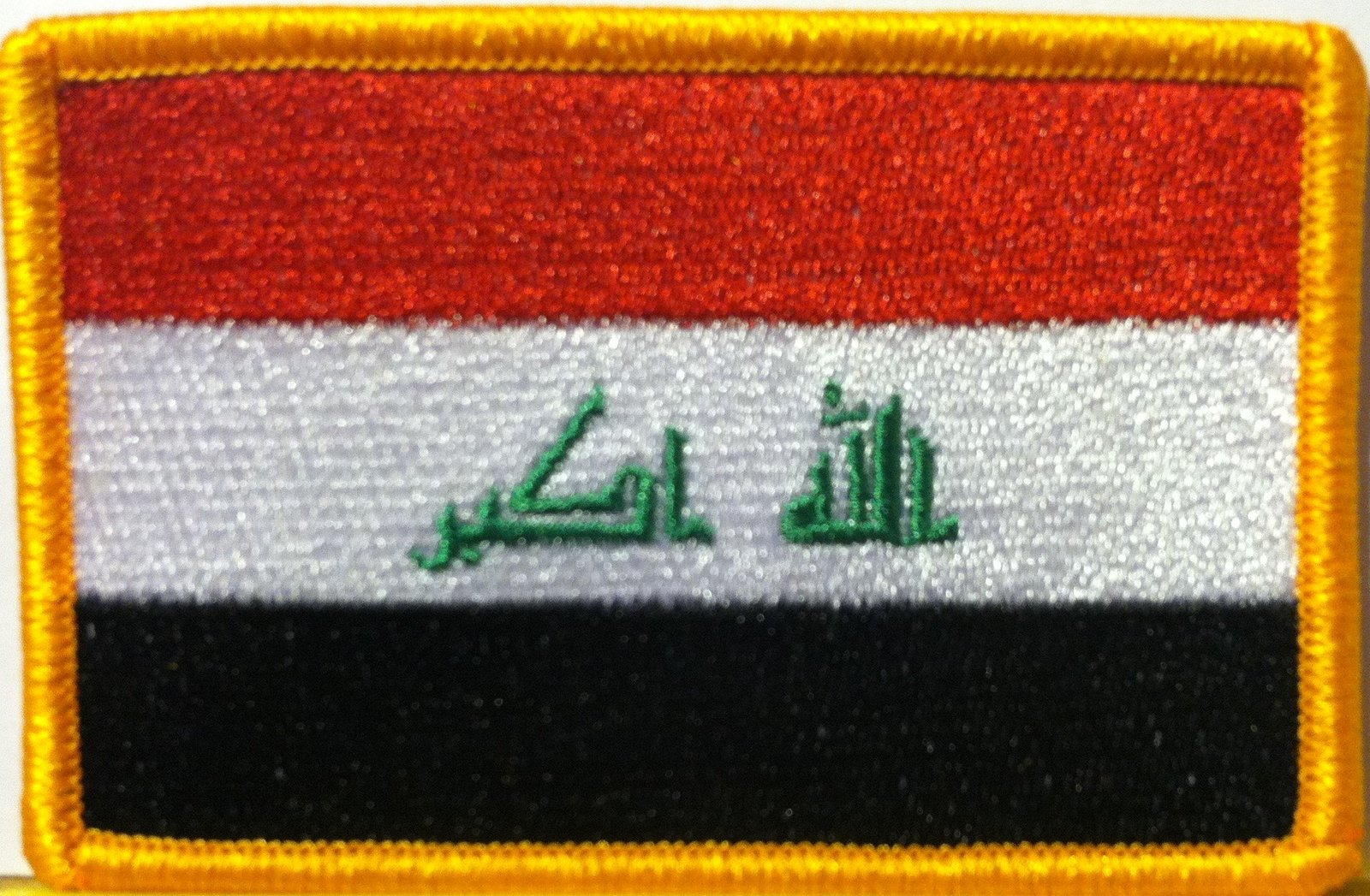 Primary image for Iraq Embroidery Iron-on Patch Emblem Gold Border
