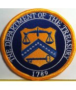 United States the Department of the Treasury 1789 Iron on Patch Gold Border - $8.99