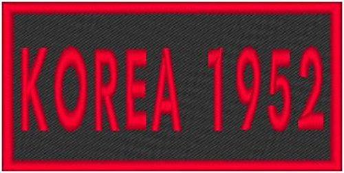 Primary image for KOREA 1952 Iron-on Patch Biker Emblem Red Merrow Border