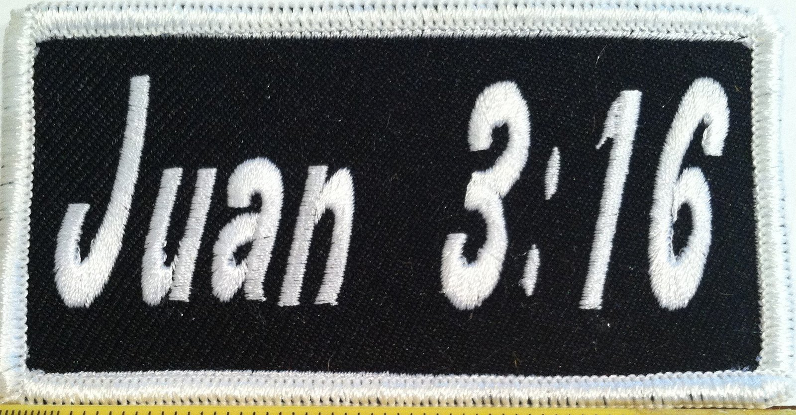 Embroidery Iron-On Patch Biker Emblem White Border TAKE NO SHI GIVE NO SHI