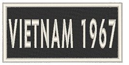 VIETNAM 1967 Iron-on Patch Biker Emblem White Border - $3.99