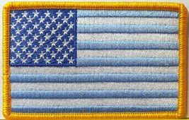 United States USA Flag Pastel Blue & White Colors Embroidered With VELCRO Pat... - $6.49