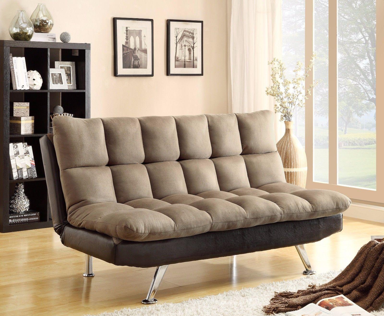 Crown Mark 5250 Sundown Adjustable Living Room Sofa Espresso Transitional Style