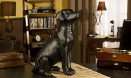 "15.7"" Black Labrador Dog Sitting Statue Figurine Polystone Giftcraft NEW"
