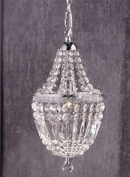 "16.7"" Chandelier Iron & Clear Glass NEW"