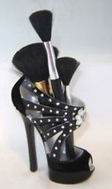 Black Stiletto Shoe Cosmetic Brush Pen Holder NEW