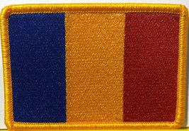 Chad Embroidery Iron-on Patch Emblem Gold Border - $4.09