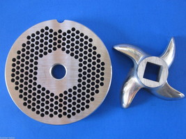 """#22 x 1/8"""" hole STAINLESS Meat Grinding Grinder Plate disc & Cutter Knife - $29.16"""