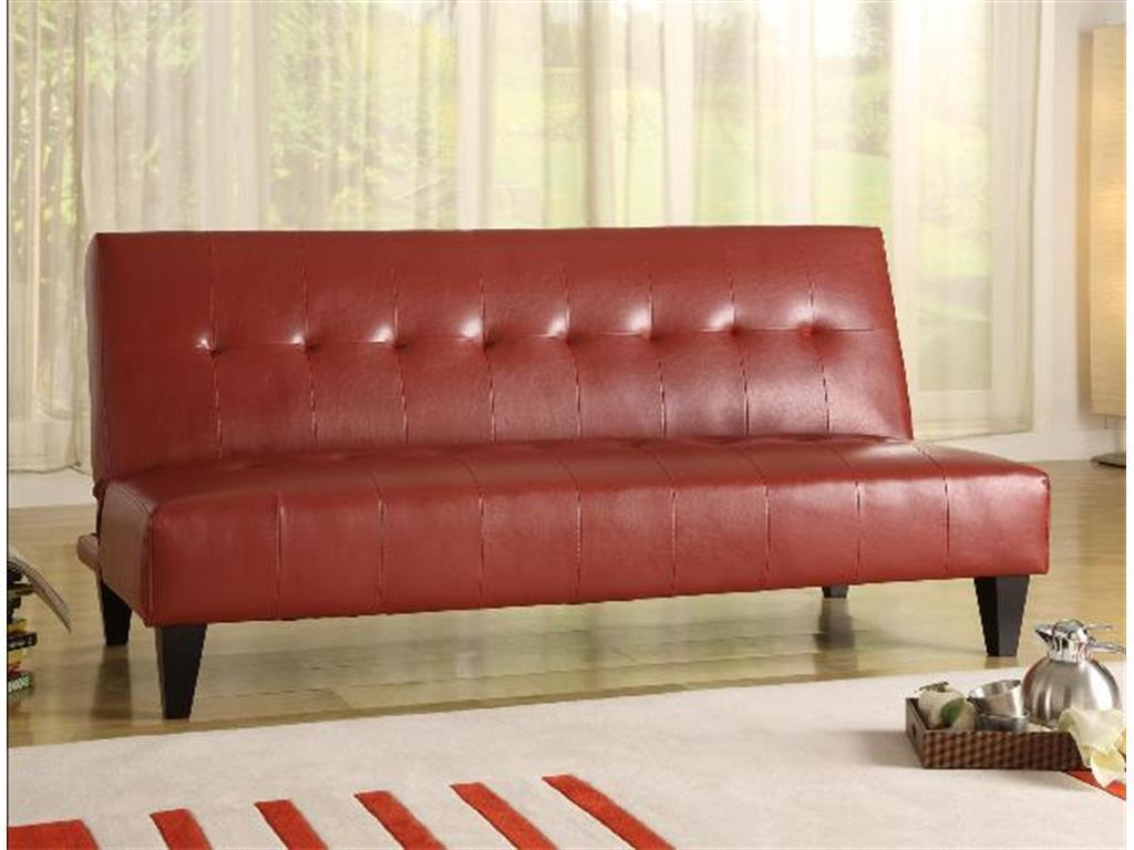 Crown Mark 5260 Marco Adjustable Sofa Red finish Transitional Style