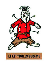 Hot Rod Rat Rod Vintage Window Decal Voodoo Doll   #39 - $2.95