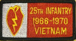 25th Infantry VIETNAM 1966-1970 Iron-On Patch Embroidered Military Emble... - $4.29